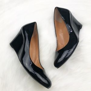 J. Crew Black Wedges Shoes